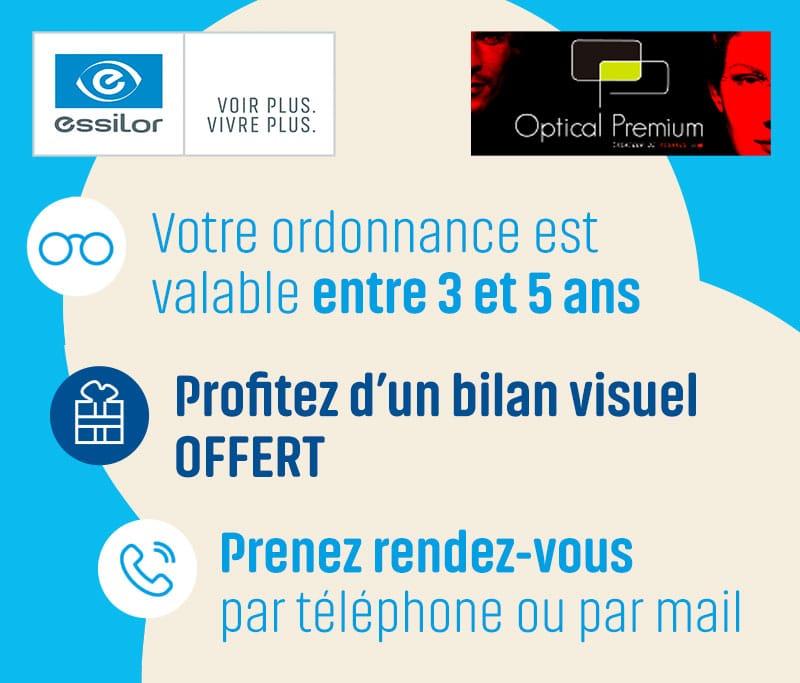 bilan optical premium